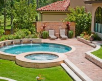 Small Pool With Jacuzzi Ideas, Pictures, Remodel and Decor