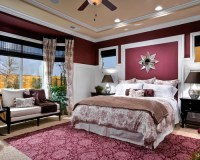 Burgundy Bedroom | Houzz