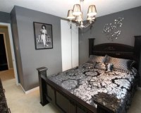 Dark Gray Bedroom | Houzz