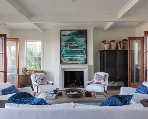 Houzz | Beach Style Living Room Design Ideas & Remodel Pictures