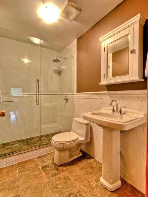 Slate Shower Tile Chair Rail Tile | Houzz