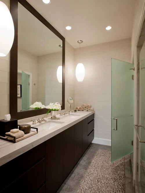 Houzz Vanity Framed Bathroom Mirror Home Design Ideas, Pictures