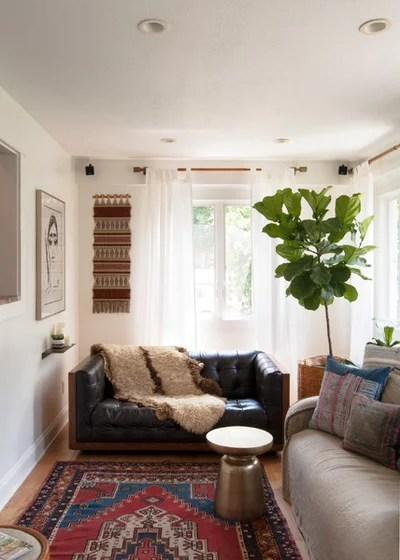 How to Use Full-Scale Decor to Make a Small Space Feel Bigger - small scale living room furniture