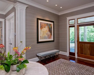 Grasscloth Wallpaper Home Design Ideas, Pictures, Remodel and Decor