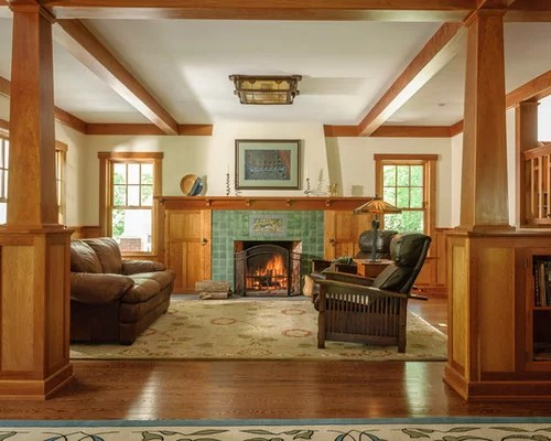 Craftsman Living Room Ideas \ Design Photos Houzz - craftsman living room