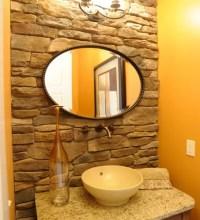 Contemporary Orange Powder Room Design Ideas, Renovations ...