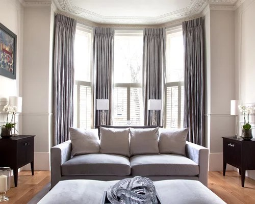 Modern Living Room Curtains Houzz - modern living room curtains