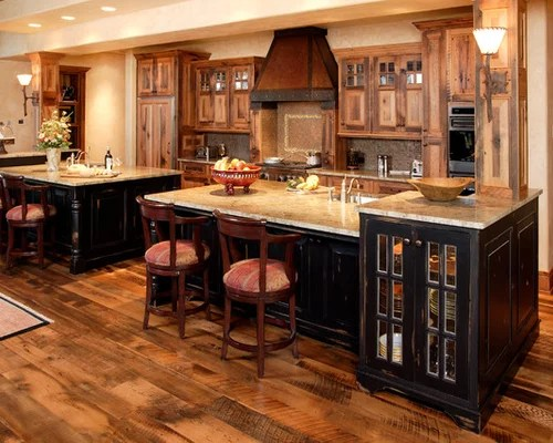 rustic kitchen design ideas remodel pictures medium tone transitional eat kitchen multiple islands design ideas