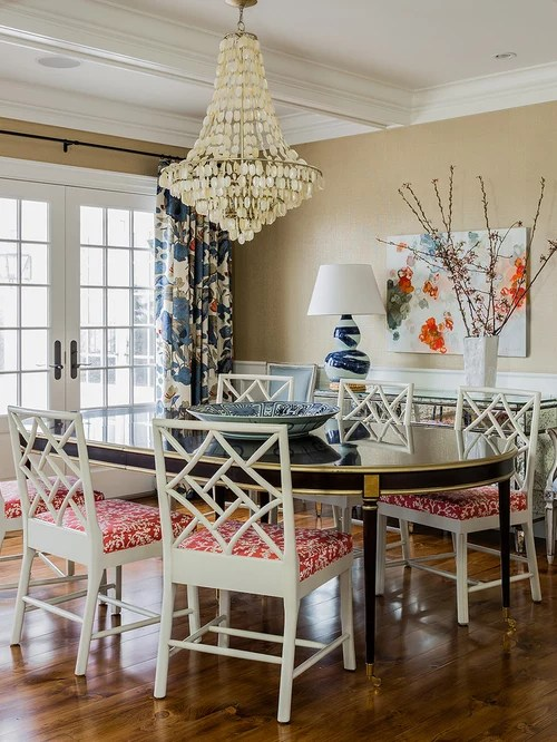 6 Chair Dining Table Chinese Chippendale Chair | Houzz