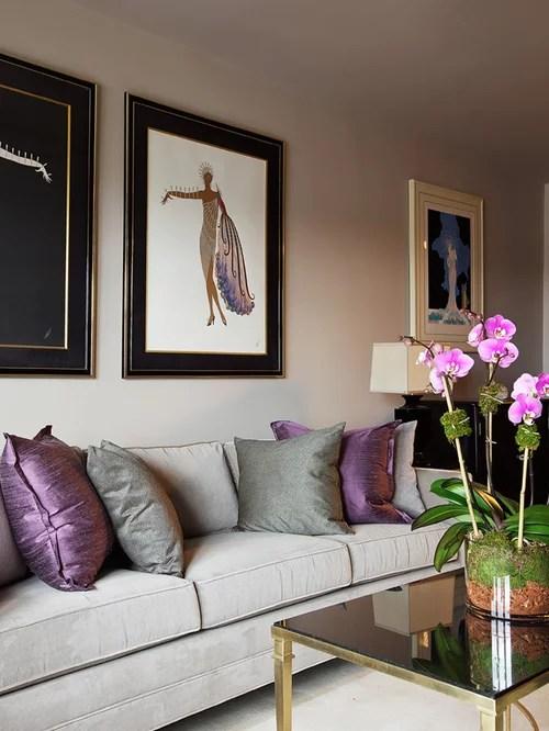Purple Grey Houzz - purple and grey living room