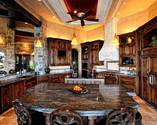 Lake Travis Waterfront Mediterranean Kitchen To Living By Zbranek Hill Country Elegance In Belvedere
