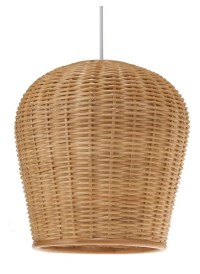 Wicker Pod Pendant Light, Natural - Tropical - Pendant ...