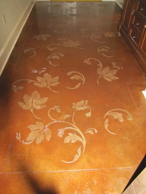 Houzz Home Office Stenciled Concrete Floor Home Design Ideas, Pictures