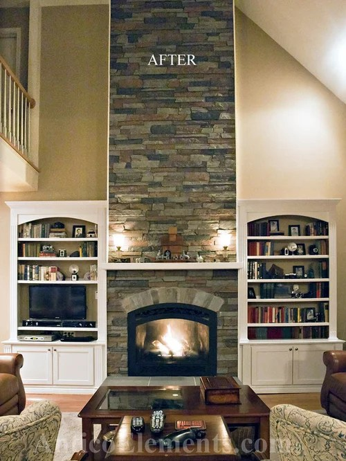 Home Depot Kitchen Wall Cabinets Faux Stone Fireplace | Houzz