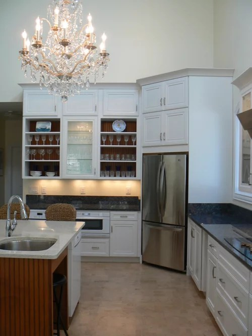 U Shaped Kitchen Design With Island Corner Refrigerator Home Design Ideas, Pictures, Remodel