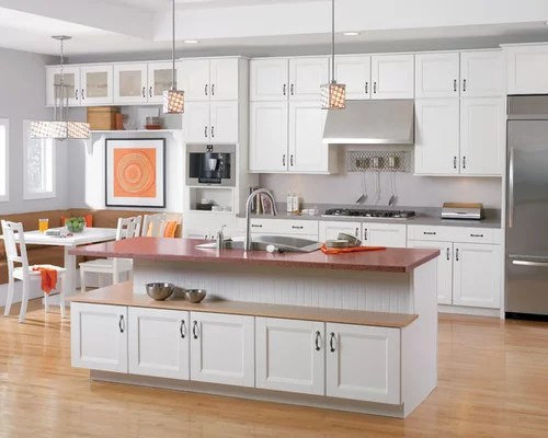 shenandoah cabinetry kitchen design ideas remodels photos inspiration small transitional single wall eat kitchen