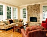 Windows Flanking Fireplace | Houzz