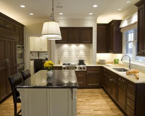 small shaped kitchen home design ideas pictures remodel decor small eat kitchen design photos dark wood cabinets