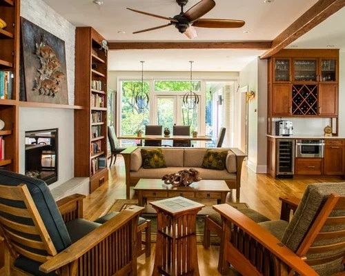 Craftsman Small Living Room Ideas \ Design Photos Houzz - craftsman living room
