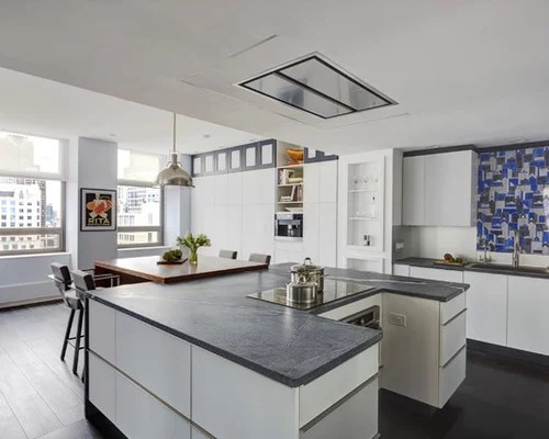 large contemporary shaped eat kitchen small eat kitchen design photos cork floors