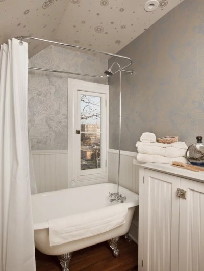 Small Bathroom Wallpaper Home Design Ideas, Pictures, Remodel and Decor