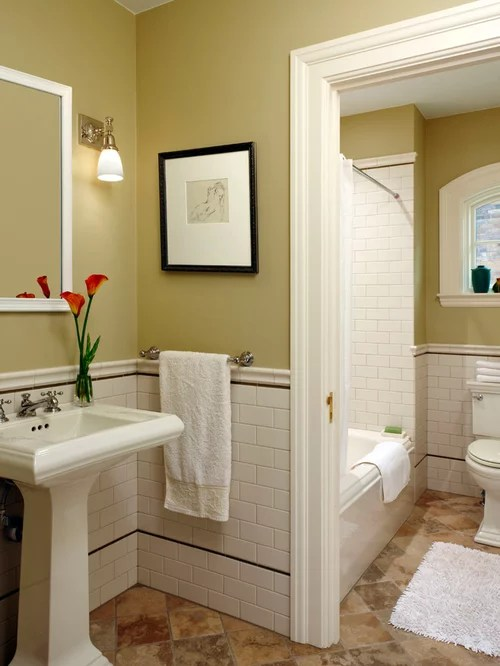 Tile Chair Rail Home Design Ideas, Pictures, Remodel and Decor
