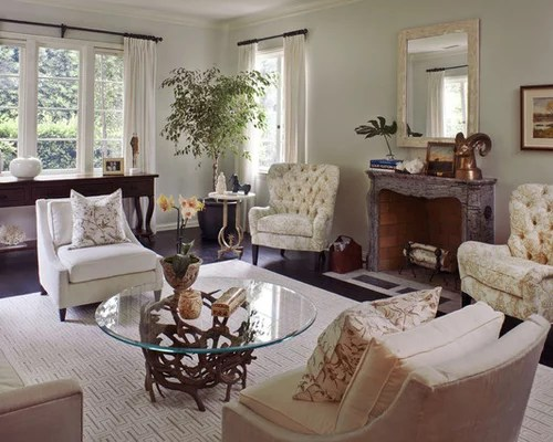 Tufted Living Room Chairs Houzz - formal living room chairs