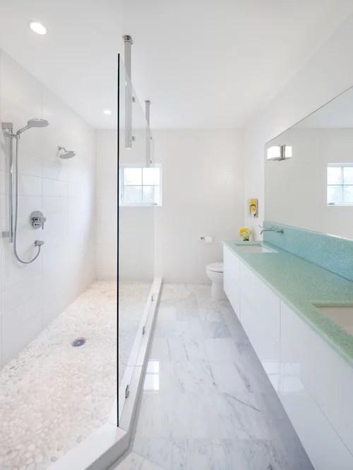 Long Narrow Bathroom Houzz - narrow bathroom ideas
