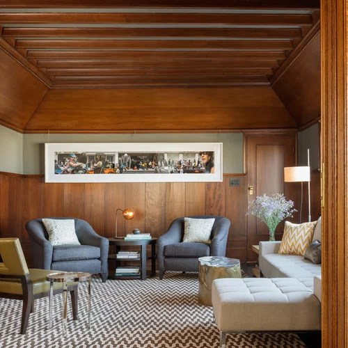 Long Wall Art Houzz - how to decorate a long wall in living room