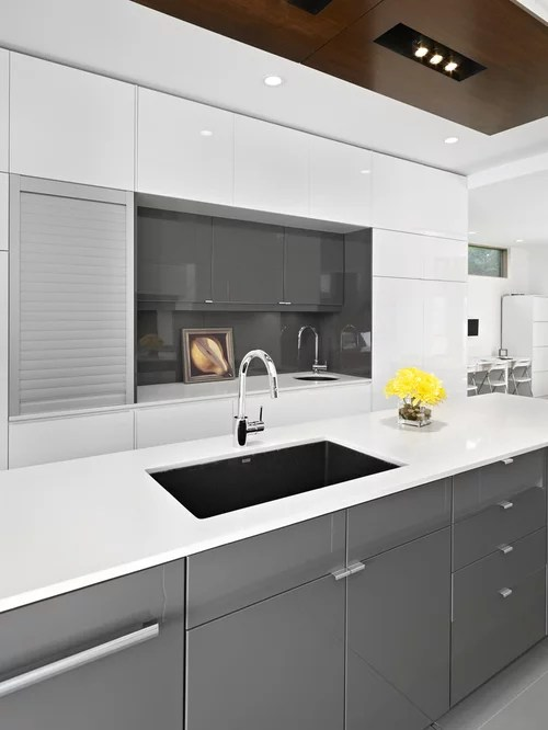 minimalist kitchen photo edmonton flat panel cabinets gray kitchen remodeling kitchen design kansas cityremodeling kansas city