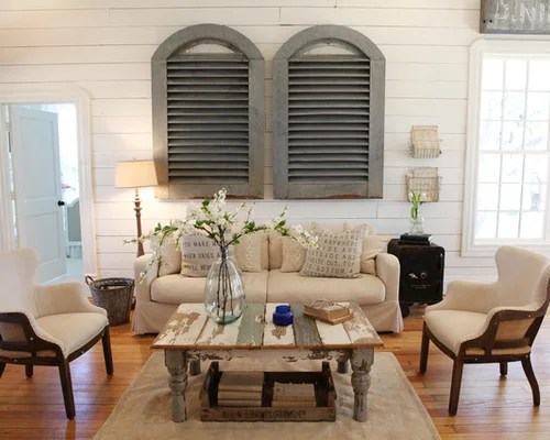 Shabby-Chic Style Living Room Design Ideas, Remodels & Photos | Houzz