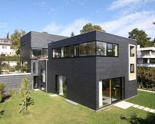 Modernes Haus - Ideen, Design \ Bilder - haus ausenfarbe grau