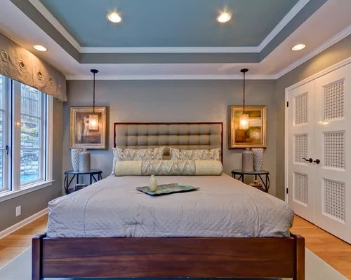 Bentuk Plafon Ruang Tamu Bedroom Tray Ceiling | Houzz