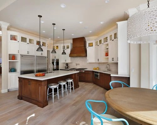 Painting Maple Cabinets Dark Lower White Upper Cabinets | Houzz