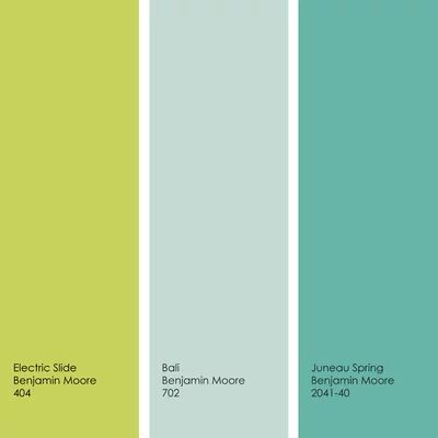 Cool color palettes enviable green and blue spaces