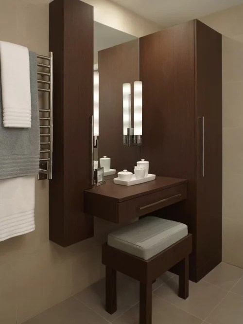 18 Deep Bathroom Vanity Floating Makeup Vanity | Houzz