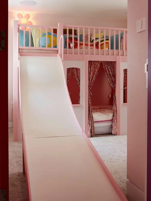 Girls Pink Bedroom Wallpaper Fairy Tale Bedroom Houzz