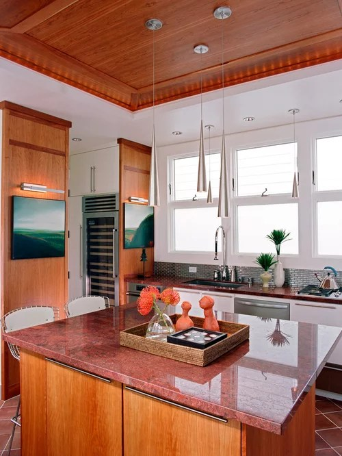 Classic Kitchen Cabinets Inc Red Granite Countertops | Houzz