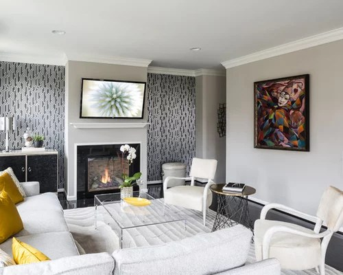 Gray Gold Living Room Ideas \ Photos Houzz - gray and gold living room