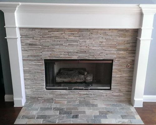 Fireplace Mini Ledger Stone Surround Brick Pattern