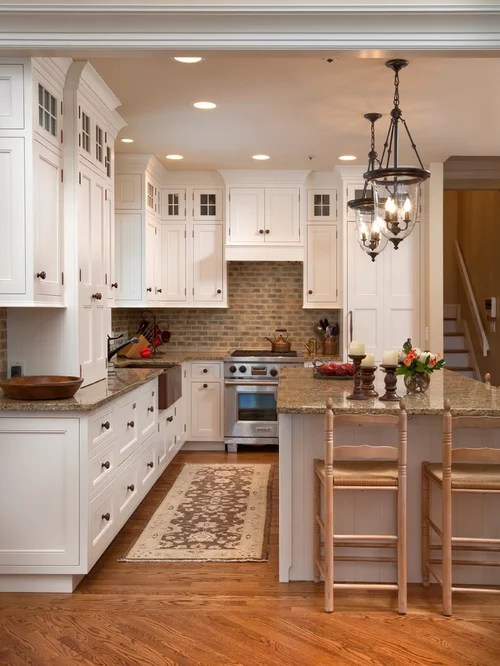 Country Gray Kitchen Cabinets Cozy Kitchen | Houzz