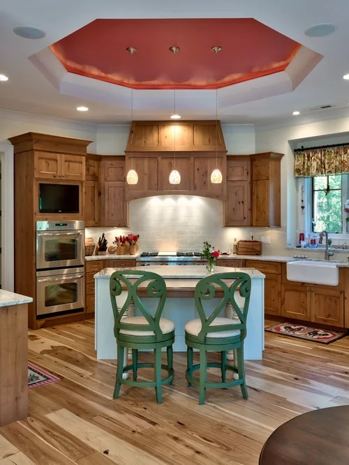French Country Backsplash Knotty Alder Cabinets Pictures | Houzz