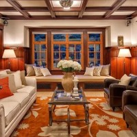 75 Craftsman Coffered Ceiling Living Room Design Ideas ...
