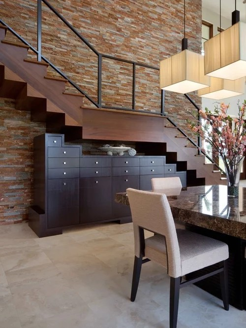 Stair Banister Under Stair Cabinets | Houzz