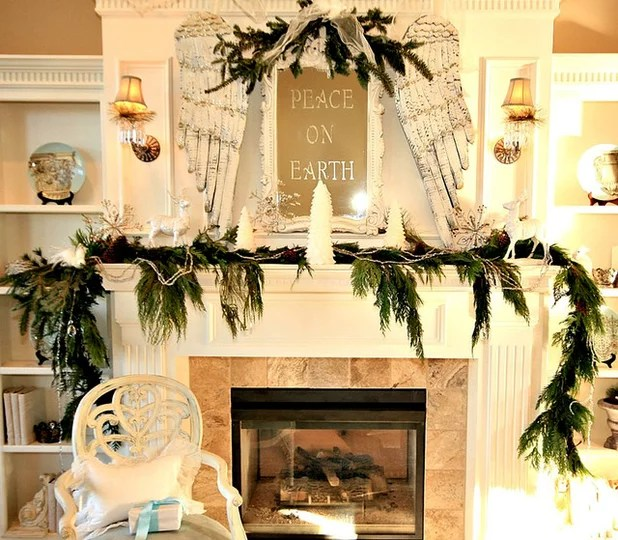 25 Gorgeous Holiday Mantels by Houzzers - christmas decorations for mantels