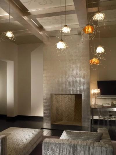 Wallpaper On A Fireplace Wall | Houzz