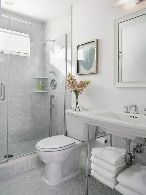 Small Bathroom Shower Ideas Houzz - shower ideas for small bathroom