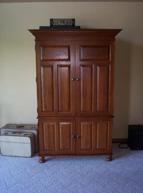 Can I Convert My Tv Armoire Into A Bar Liquor Cabinet