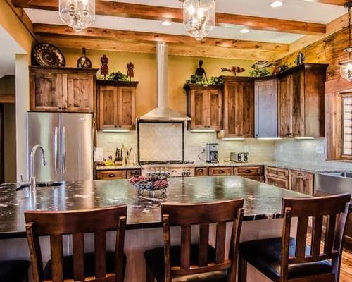 rustic kitchen design ideas remodels photos dark wood cabinets small eat kitchen design photos dark wood cabinets