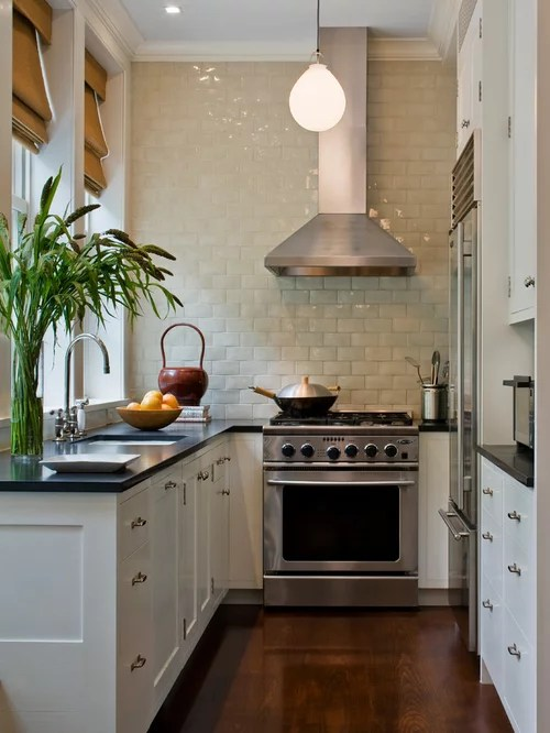 small square kitchen home design ideas renovations photos inspiration small transitional shaped kitchen remodel